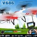 5.8G Hz WLtoys V686 V686G (FPV Version) 4CH Drone block toy Quadcopter JJRC V686 HD Camera RTF Drone Headless Mode light-up toy