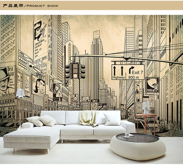 architecture sketch wallpaper. ShineHome-European Modern Grey City Building Architecture Sketch Wallpaper Mural Rolls For Living Room Wall Paper Decoration T