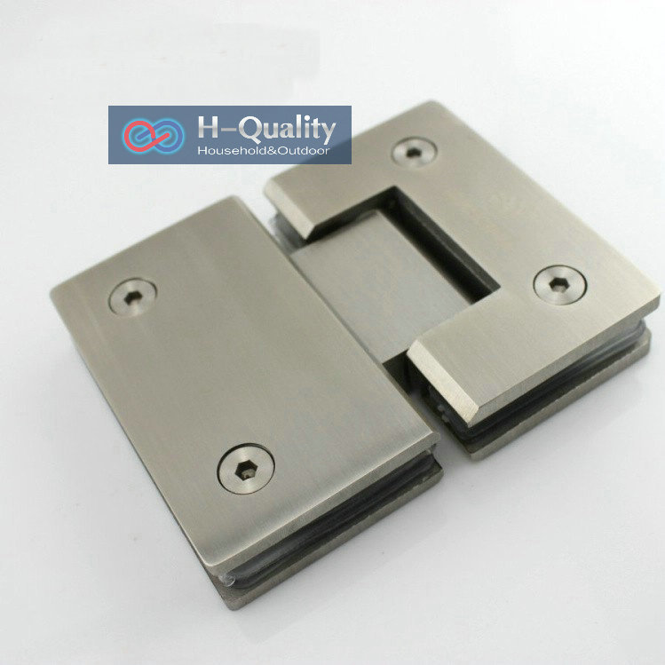 Thicken 180 Degrees Precision Casting and Surface Wire Drawing Stainless Steel Glass Clamp, Shower Door Glass ClipThicken 180 Degrees Precision Casting and Surface Wire Drawing Stainless Steel Glass Clamp, Shower Door Glass Clip