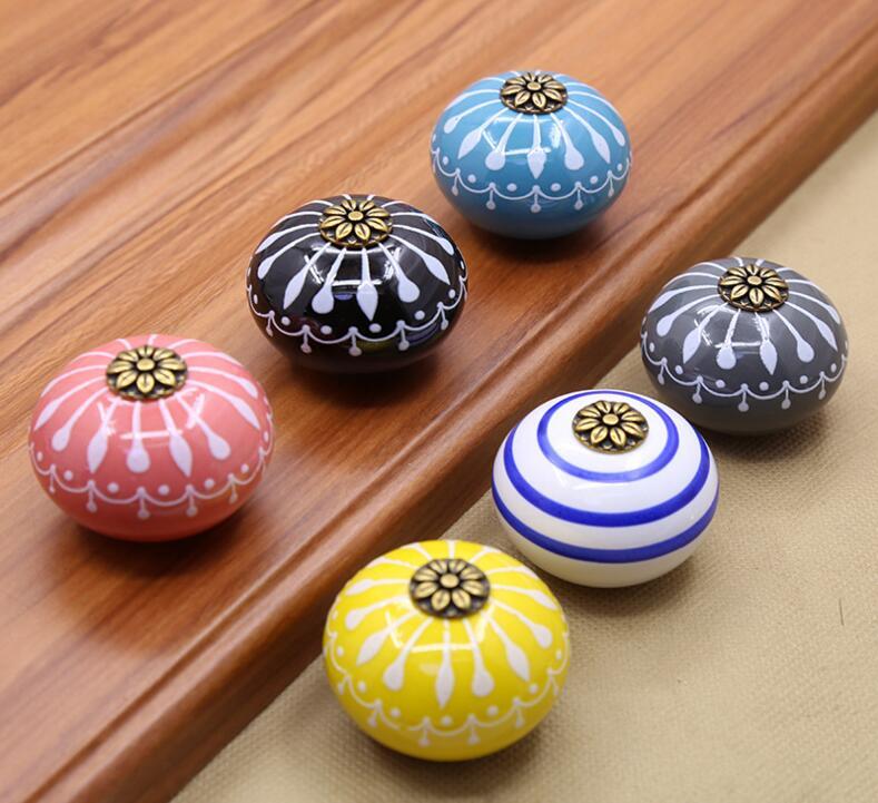 Hand-painted Art Ceramic Cabinet Knobs and Handles Furniture Handles for Kids чайные принадлежности ceramic art cx068