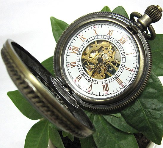 8c0ddf38891 ₪Antique Bronze Copper Mens Senhoras Pingente Relógio de Bolso - a967