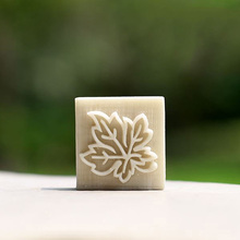 Maple leaves pattern soap stamp handmade soap chapter soap molds