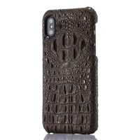 Latest Luxury Genuine Leather Case For Iphone X Cell Phone Luxury 3D Crocodile Skin Pattern Hard
