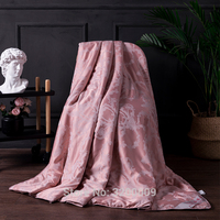 High Quality Mulberry Silk Bean Red Stitching Quilt Blanket Quilt Four Seasons Universal King Size Double Size Handmade Bedding