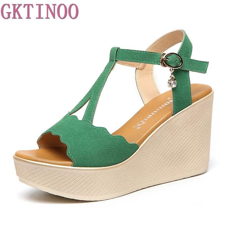 New Fashion Summer Shoes Woman Wedges Sandals High Heels 2017 New Plus Size Open Toe Platform Women Sandal Shoes sgesvier fashion women sandals open toe all match sandals women summer casual buckle strap wedges heels shoes size 34 43 lp009