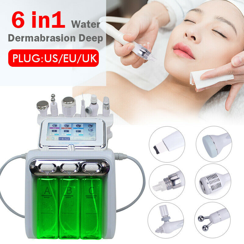 Water Oxygen Skin Diamond Dermabrasion Machine Cleansing Hydro Dermabrasion Hydra Facial Machine 6In1 Water Aqua Peeling Machine