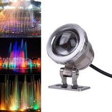 10 W AC 12 V RGB LLEVÓ La Lámpara Subacuática IP65 A Prueba De Agua piscina Estanque de Peces de Acuario Tanque de LED Lámpara de Luz Con Control Remoto controlador