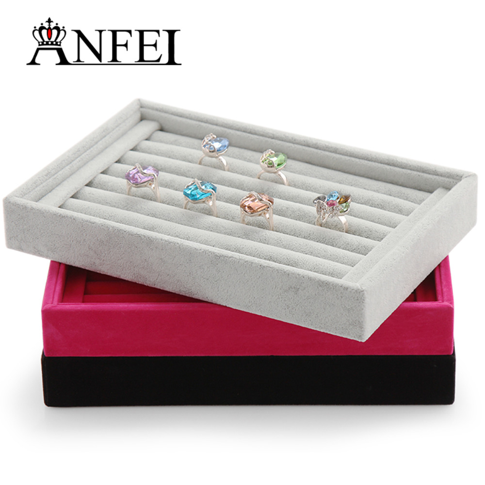 Exhibition Stand Organizer : Anfei jewelry display ring tray
