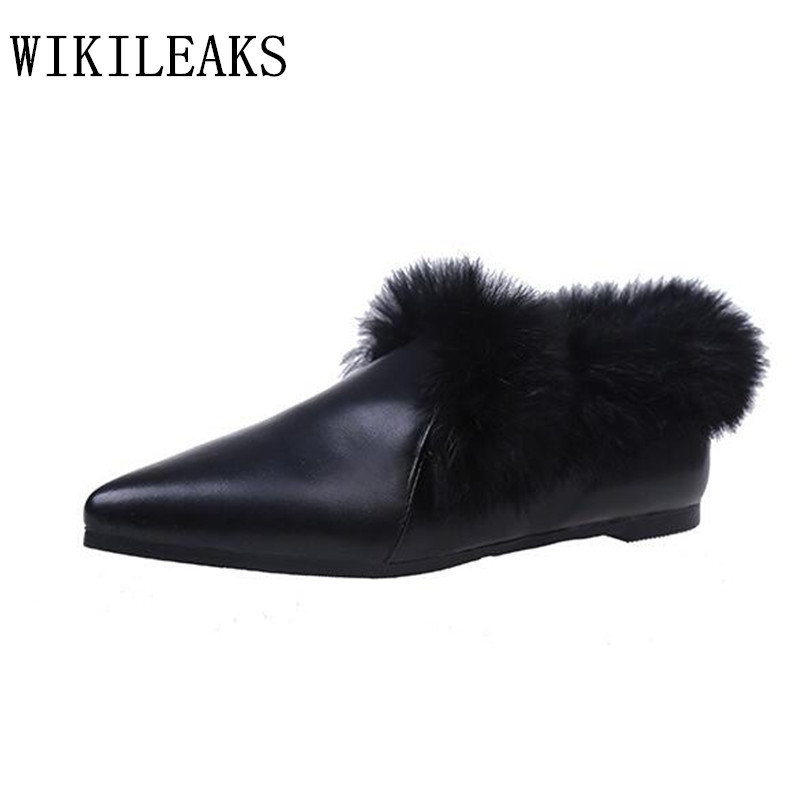 designer shoes women luxury 2017 flat shoes women loafers fur moccasins zapatillas mujer casual ladies shoes black white shoes new designer women fur flats luxury brand slip on loafers zapatillas mujer casual ladies shoes pointed toe sapato feminino black