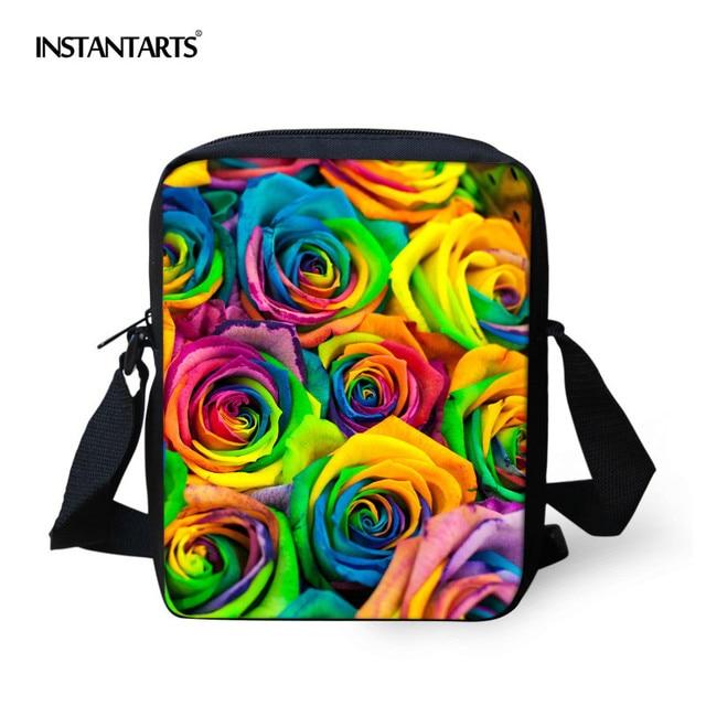 INSTANTARTS 3D Floral Printed Children School Bags Kindergarten Baby Small  Schoolbag Rose Satchel Preschool Boys Kids Bookbags a8c55a684b639