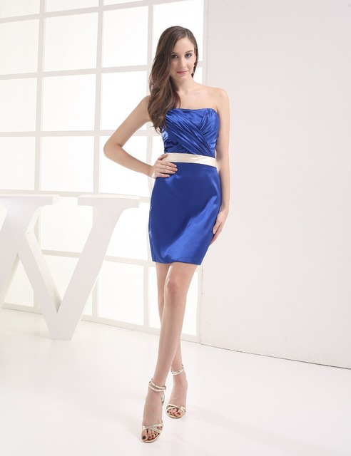 New Arrival  Above Knee, Mini Coctail Gowns 2016 Strapless Free Shipping Graduation Dress Homecoming Cheap Cocktail Dresses