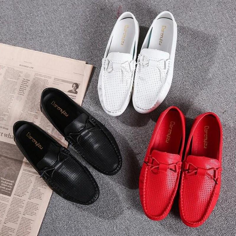Nouveau White De Black En Hommes Cuir Luxe Casual Chaussures 2019 rqrtawE