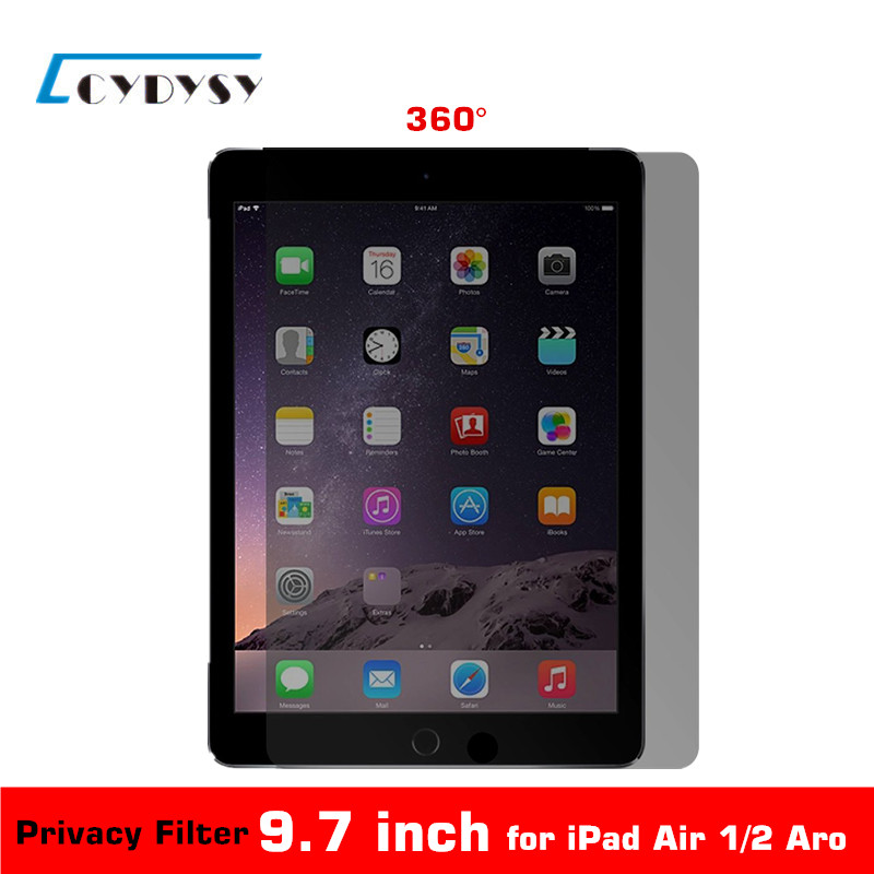 9.7 inch 360 Degree Tablet PC <font><b>Privacy</b></font> <font><b>Filter</b></font> Screen Protector for <font><b>iPad</b></font> <font><b>Air</b></font> 1/<font><b>iPad</b></font> <font><b>Air</b></font> 2 /Aro 165mmx237mm