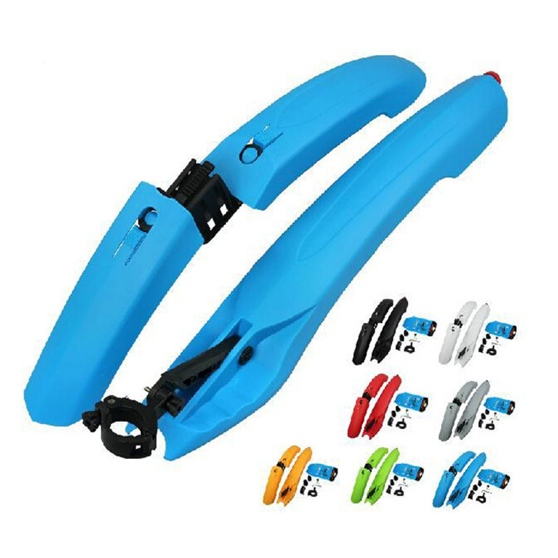 Bicycle <font><b>Fender</b></font> with LED Light Mountain Cycling Front Rear Bicycle Durable <font><b>Fenders</b></font> With LED Light Plastic Bike <font><b>Fender</b></font> Hot S