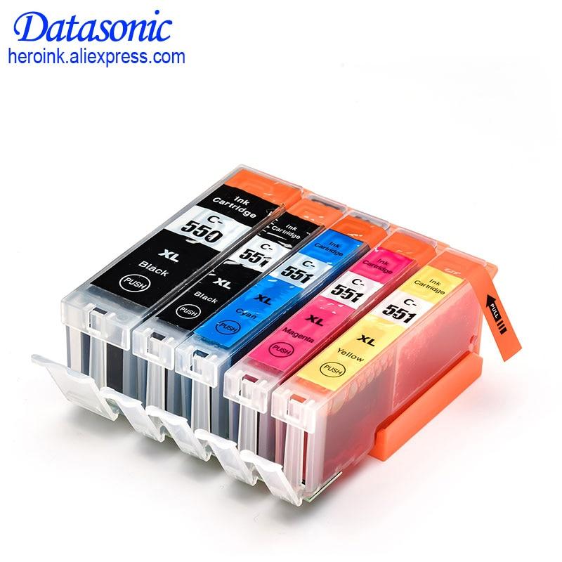 25 XL Ink Cartridges For PGI550 CLI551 Canon Pixma iP7250 MG5450 MG6350 MX925 MG6450 IP8750 IX6850