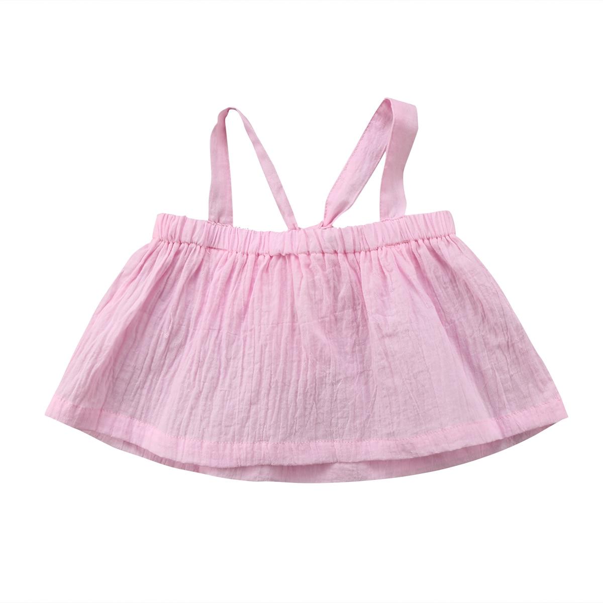 Entzückende Neugeboren Baby Mädchen Sommer Strap Halter Rohr Tops Bluse Shirts Kleidung