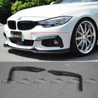 END.CC Style Carbon Fiber Front Bumper Canards Front Pieces for BMW 4 Series Gran Coupe F32 F33 F36 2014 2015 OLOTDI Car Styling