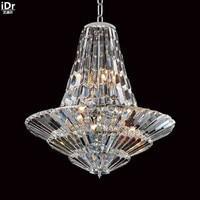 Люстры chrome кристалл лампы освещения современный китайский железа люстра d76cm xh86cm