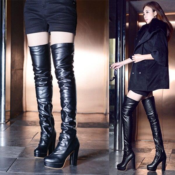 2014 New Fashion Sexy High Heel Slim Woman Thigh Boots
