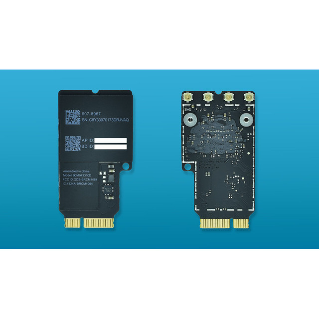 US $11 99 |BCM94331CD 2 4 5G WiFi card Bluetooth 4 0 Network Card for Apple  iMac A1418 A1419 PK BCM94360CD-in Network Cards from Computer & Office on