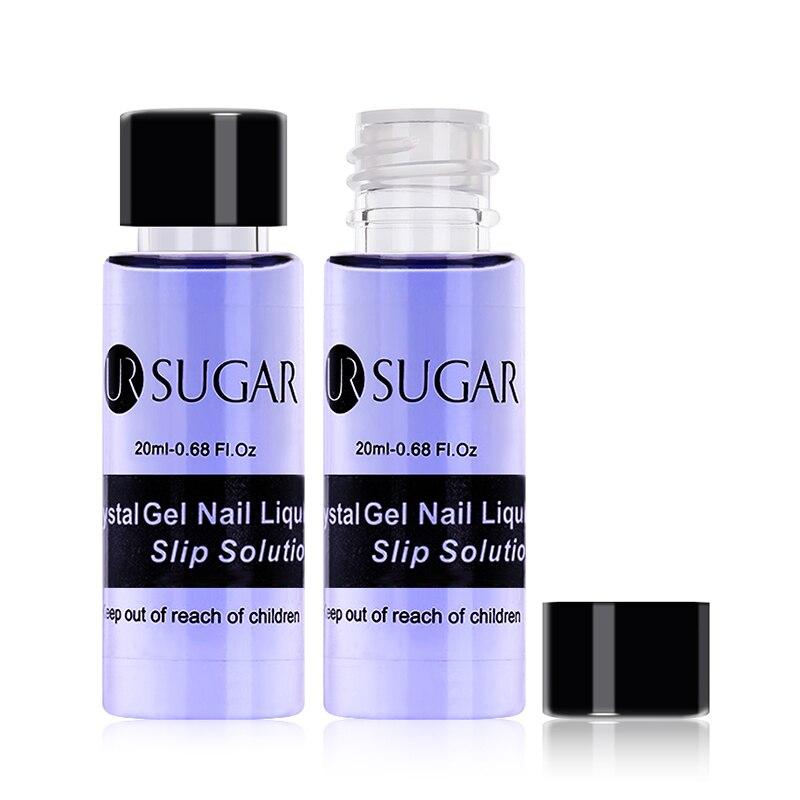 UR SUGAR 20ml Poly Polish Gel Liquid Slip Solution Nail Varnish For Acrylic Builder Extension Gel Manicure Glides Poly UV Gel
