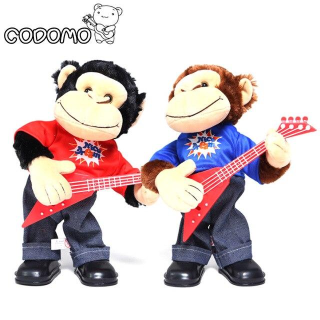 Прекрасный Электронный Обезьян Домашних Животных Play guitar Smart Toys Robot Стенд Ходить Электронные Pet Игрушки Электронные Музыкальные Игрушки Для Детей