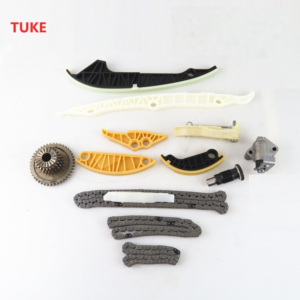 TUKE 13 Pcs Car Engine Oil Pump Timing Tensioner Kit For 2.0t VW Passat B6 Tiguan Jetta MK6 A3 A4 A5 A6 06H109469 06H 109 467 AM