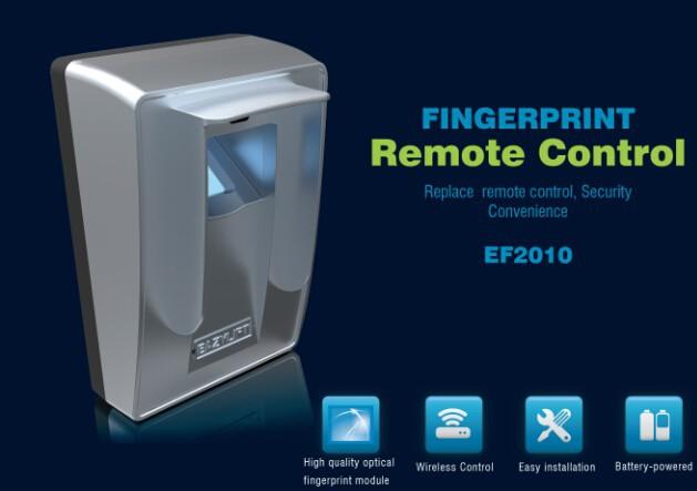 Wall Mounted Fingerprint Remote Control For Garage Door Opener In