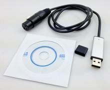 MINI USB a DMX 512 controlador adaptador de interfaz DMX512 PC etapa iluminación regulador Dongle Freestyler 512 USB