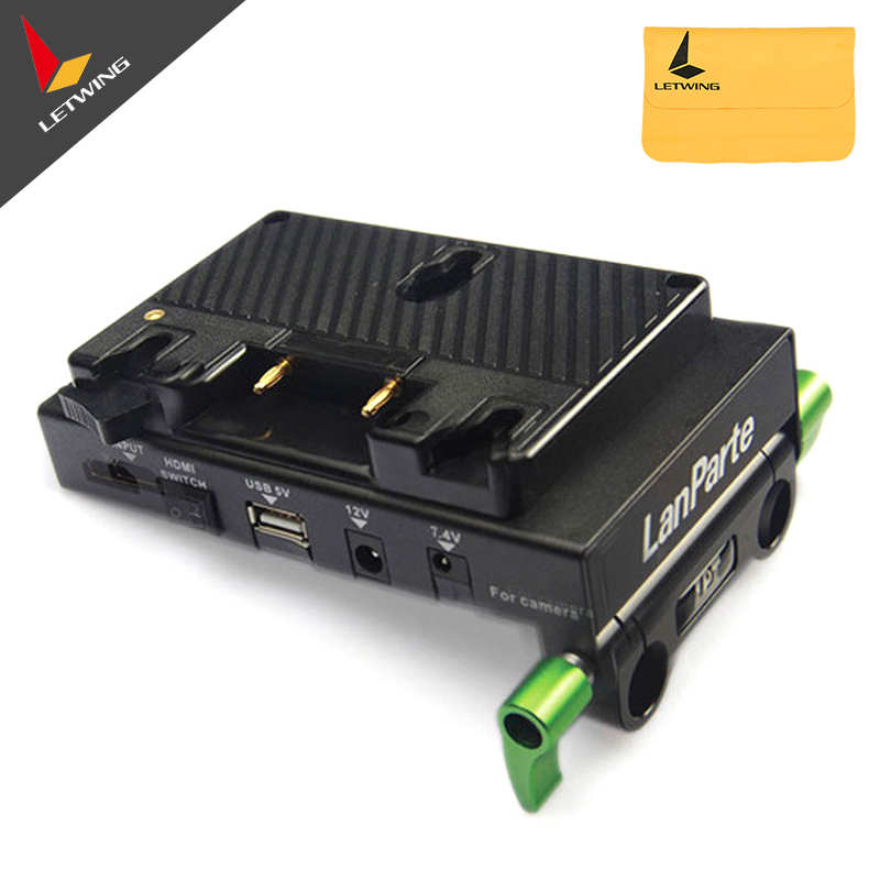 цена на Lanparte A-Mount Anton Bauer Battery Pinch Power Distributor & HDMI Splitter for DSLR Rig