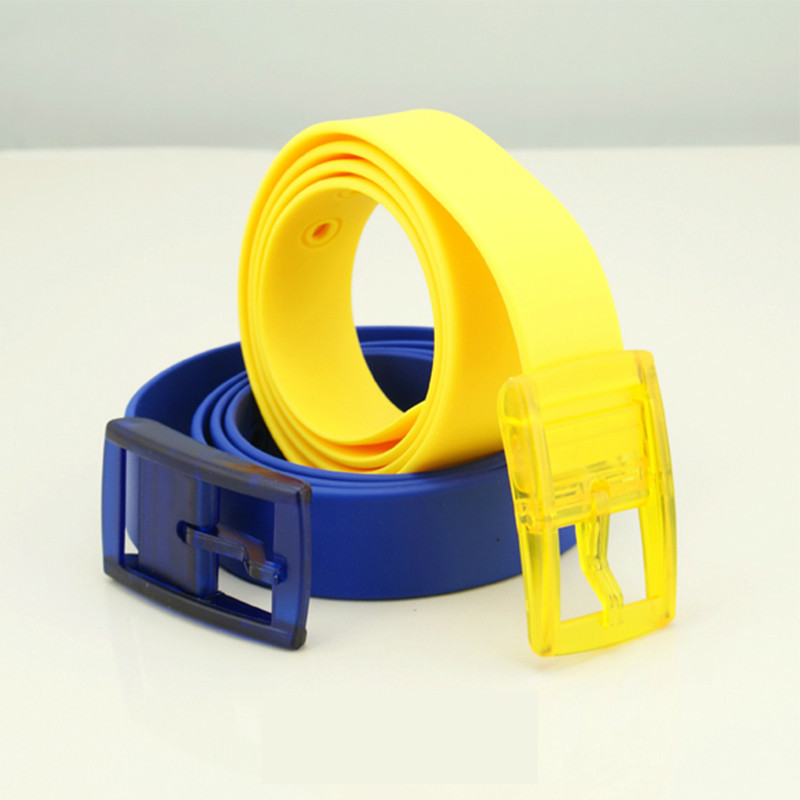 Candy Type Fashion Men And Women Lovers General   Belt   Silica Gel   Belt   Plastic   Belt   Defence Allergy Environmental Protection   Belt