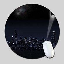Бэтмен Знак Света Город Лучших Круглые Резиновые Столе Anti-Коврик Резиновый Коврик Для Мыши 20*20 см