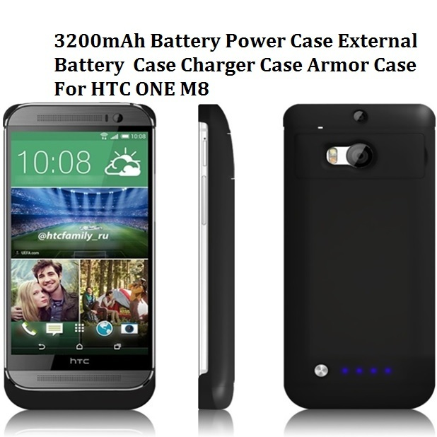 On sale HIgh Quality 3200mAh Battery Power Case External Battery Case Charger Case Armor Case For HTC ONE M8 Freeshipping
