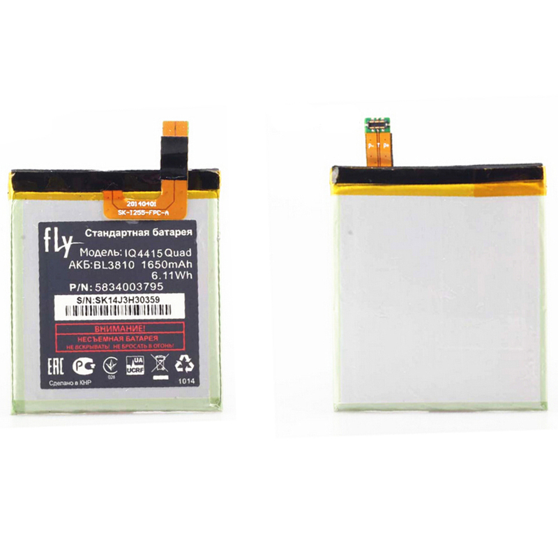 High Quality Replacement Phone Battery BL3810 1650mAh For Fly IQ4415 Quad Smart Phone free shipping