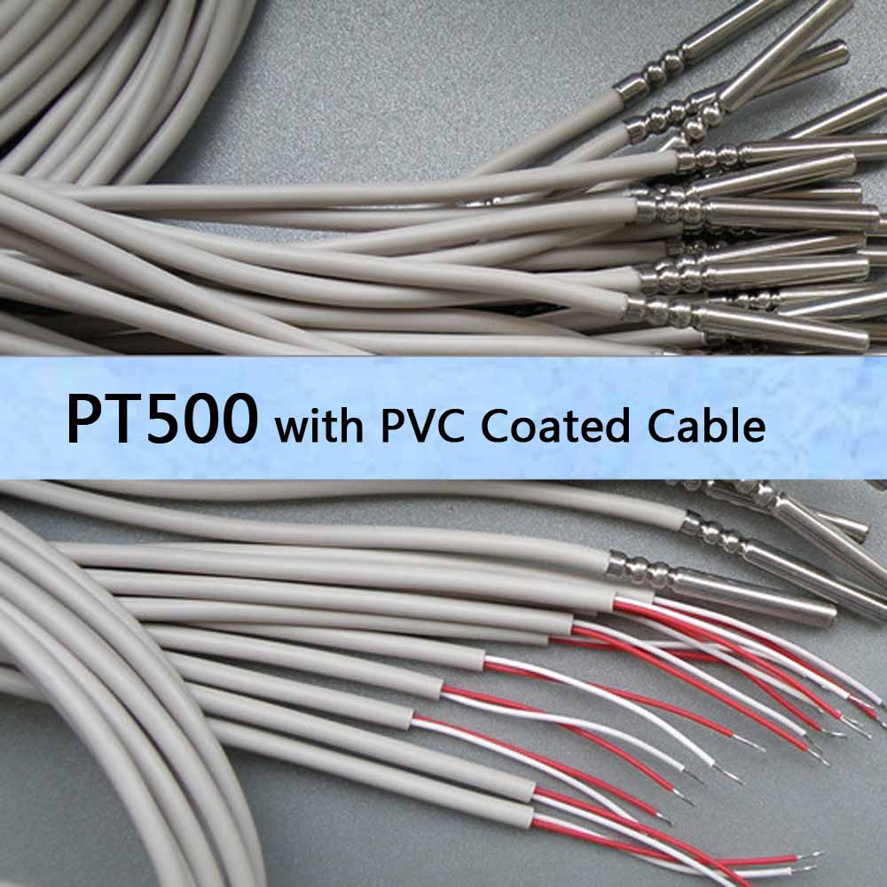 1 5 meter pt500 temperature sensor 2 wire with pvc coated. Black Bedroom Furniture Sets. Home Design Ideas