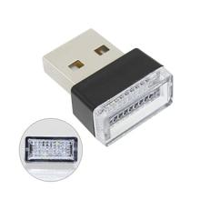 Новейшая атмосферная Лампа DC 5V USB светодиодный ночник для украшения интерьера белый/розовый/красный/кристаллический/синий