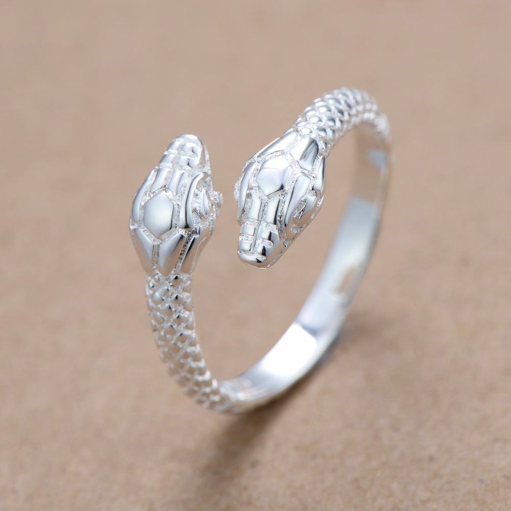 Snake simple Silver plated Ring Fashion Jewelry Ring CLOVER JEWELLERY