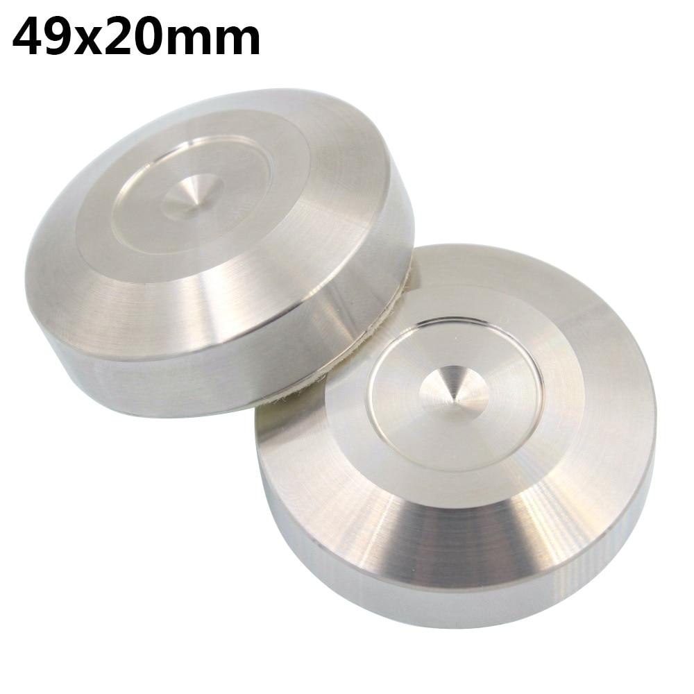 304 Stainless Steel Isolation Spike DISC Pad Floor Base for Speaker AMP 39x8mm*4