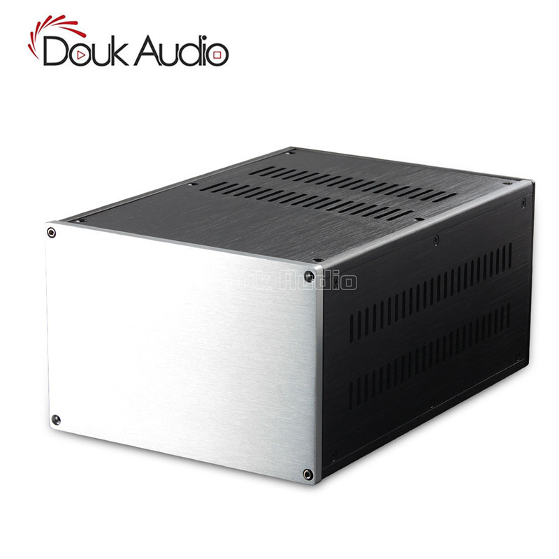 Douk Audio Multifunctionele Aluminium Chassis Versterker Geval DIY Rechthoek Behuizing-in Versterker van Consumentenelektronica op  Groep 1