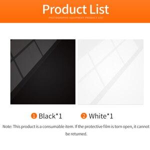 "Image 2 - 30x30 ס""מ רעיוני שחור לבן אקריליק תצוגת לוחות שולחן מוצר צילום רעיוני מט שטוח גימור רקע"