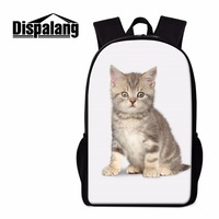 Dispalang Zoo Dog Cat Prints Female Backpacks Male Leisure Travel Rucksack Cute School Bags For Primary