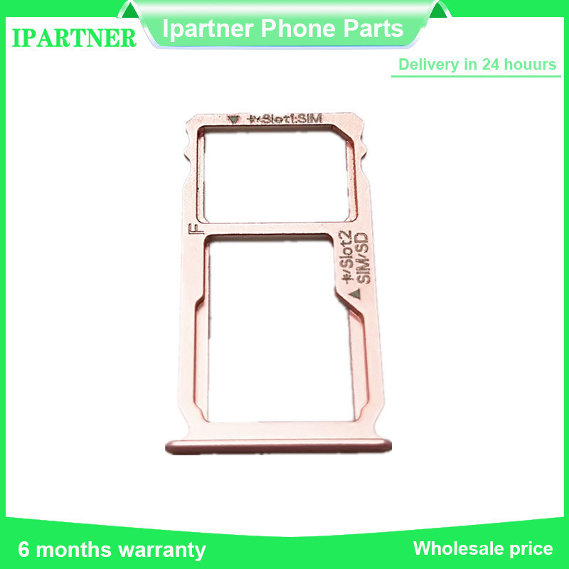 For Huawei Ascend Mate S SIM Card Tray SD Card Holder SIM SD Memory Tray Original Replacement Part Rose Gold Free Shipping