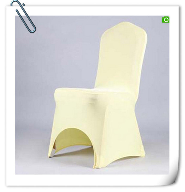 Hot Sale 100pcs Light Yellow Spandex Chair Covers Lycra Chair
