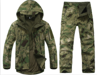 TAD Gear Tactical Softshell Camouflage Outdoors Jacket Set Men Army Sport Waterproof Hunting Clothes Set Military