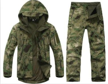 TAD Gear tactique Softshell Camouflage extérieur veste ensemble hommes armée Sport imperméable chasse vêtements ensemble veste militaire + pantalon
