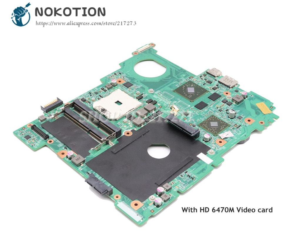 NOKOTION CN-0FJ2GT 0FJ2GT carte principale pour Dell Inspiron M5110 ordinateur portable carte mère Socket FS1 HD 6470 M carte vidéo