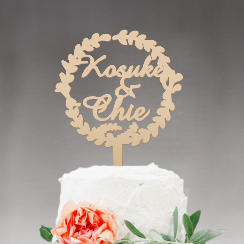 Us 12 31 16 Off Wedding Cake Topper Monogram Mr And Mrs Cake Topper Design Wood Cake Topper Personalized With Last Name In Cake Decorating