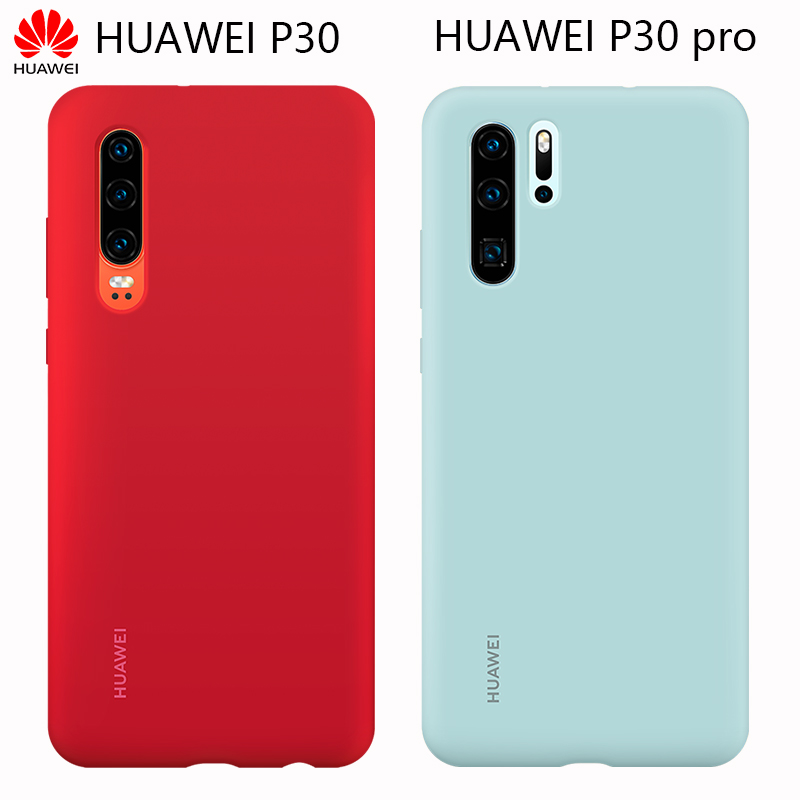 Official Soft Silicone Case Huawei P30 Pro Case Stylish Anti-fall Ultra-thin Back Cover 100% Original Shell P30 Protective Case