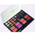 Pro 32 Color Makeup Eyeshadow Blush Palette Naked Shimmer Matte Eyeshadow Beauty Cosmetic Set with Make Up Tool Brush
