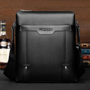 New Fashion PU Leather Men Messenger Casual Bag 2